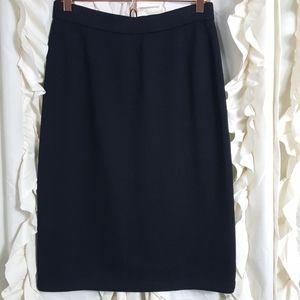St. John Basics black Santana knit skirt
